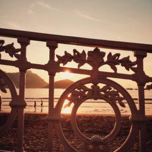 La Concha beach railing