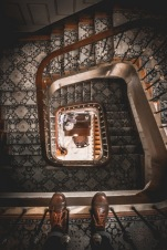 Spiral staircase in the hotel