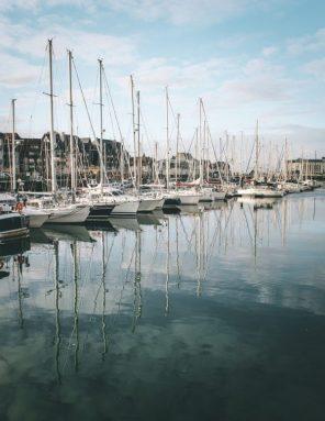 Deauville-port-reflection