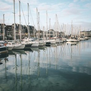 Deauville-port-reflection